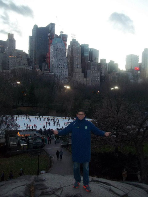 Lalo Rotondo en Central Park, New York, EE.UU.